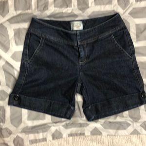 White House Black Market jean shorts size 2